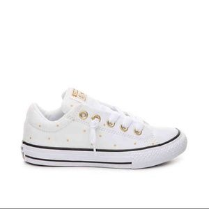 Converse Gold Glitter Star Slip On Sneakers
